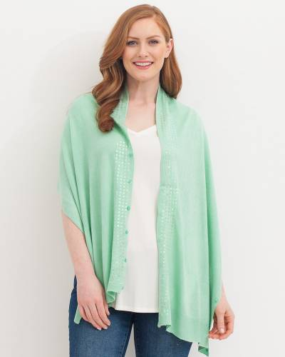 Soft Sequin Wrap in Melon