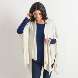 Noelle Soft Cardigan Wrap in Ivory