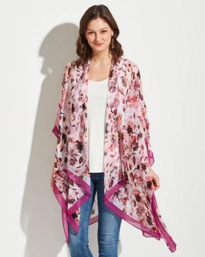 Floral Print Wrap in Rose