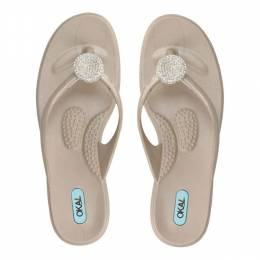 Oka-B Aged Gold Lucky Sandals