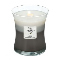 WoodWick Warm Woods Medium Trilogy Candle