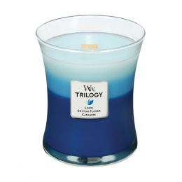 WoodWick Clothesline Fresh Medium Trilogy Candle