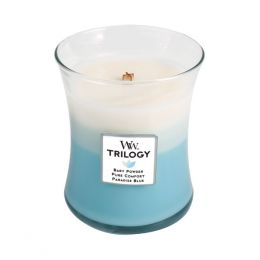 WoodWick Fresh and Clean Medium Trilogy Candle