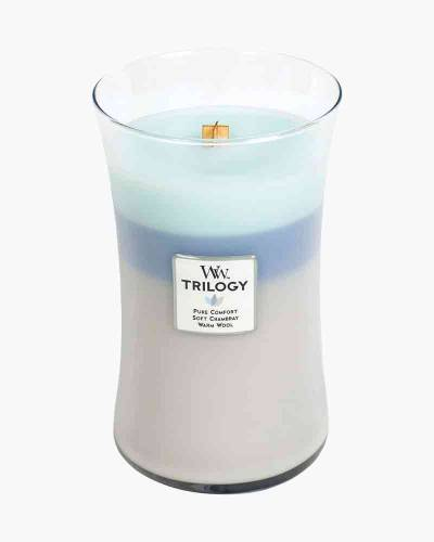 Woven Comforts Large WoodWick Trilogy Candle