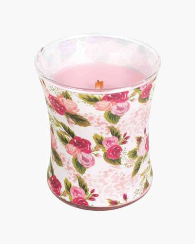 Rose Illustrated Hourglass Jar WoodWick Candle