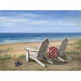 Opportunities, Inc. Adirondack Chairs Canvas Print