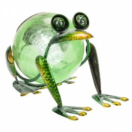 Opportunities, Inc. Solar Light Metal Frog