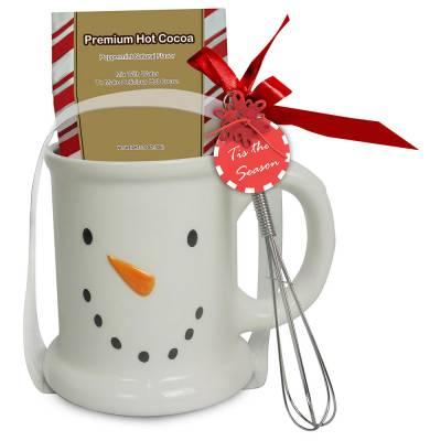 Snowman Cocoa and Mug Set