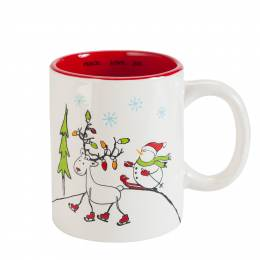 Legacy & Main™ Snowman and Reindeer Ceramic Mug