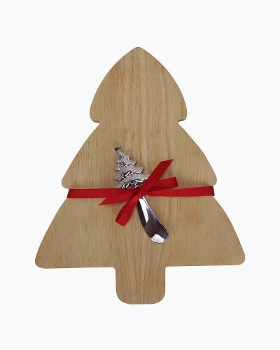 Christmas Tree Cutting Board and Spreader Set