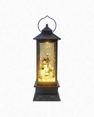 Snowman Family LED Light-Up Lantern