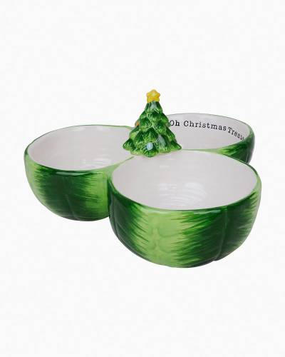 Christmas Tree Triple Dip Dish