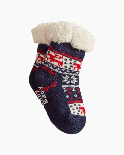 Holiday Baby Thermal Socks in Navy