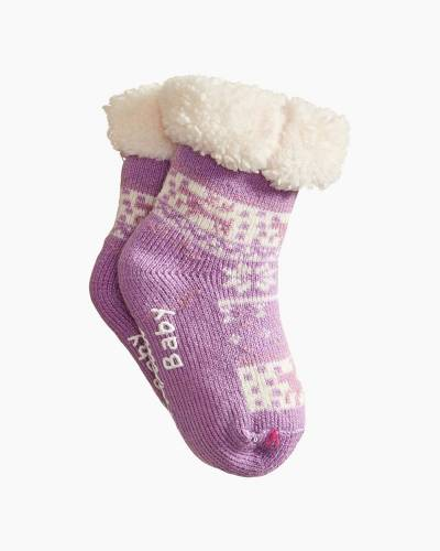Holiday Baby Thermal Socks in Purple