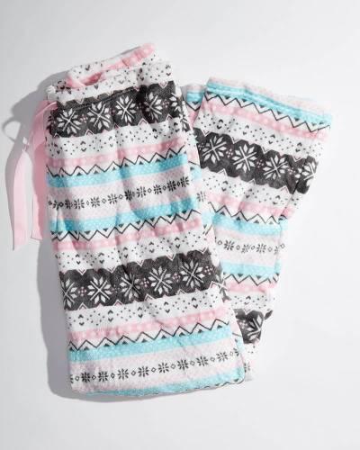 Exclusive Women's Snowflake Fleece Pajama Pants