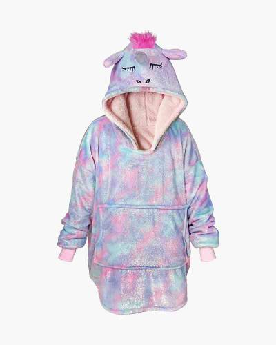 Kid's Sparkly Sherpa Lined Unicorn Pullover