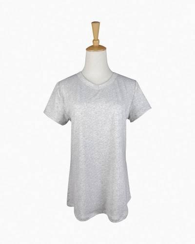 V-Neck Pajama Top in Grey