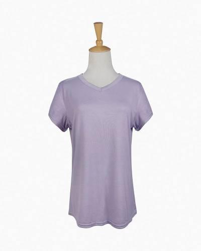 V-Neck Pajama Top in Lavender