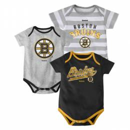 Reebok Boston Bruins Infant One-Pieces (3 Pack)