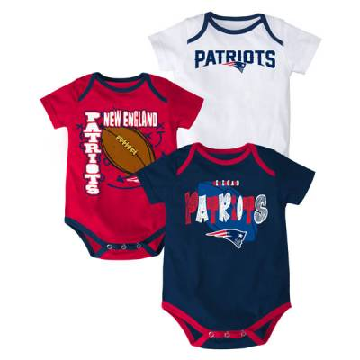 New England Patriots Infant One-Pieces (3 Pack)