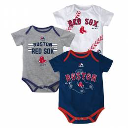 Reebok Boston Red Sox Infant One-Pieces (3 Pack)