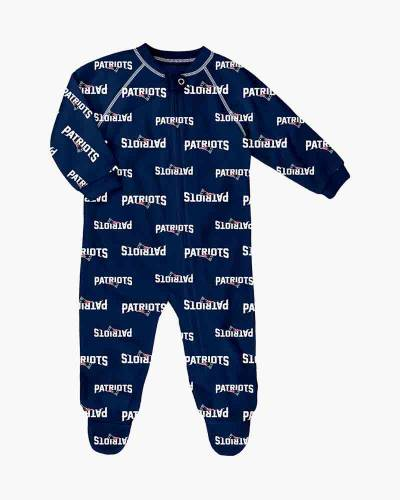 New England Patriots Infant Raglan Full Zip Coveralls