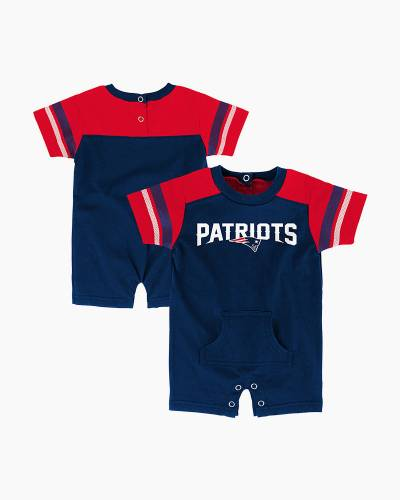 New England Patriots Rusher Baby Romper