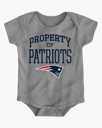 New England Patriots Property of Patriots Infant One-Piece