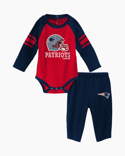 New England Patriots Future Starter Baby Creeper and Pants Set
