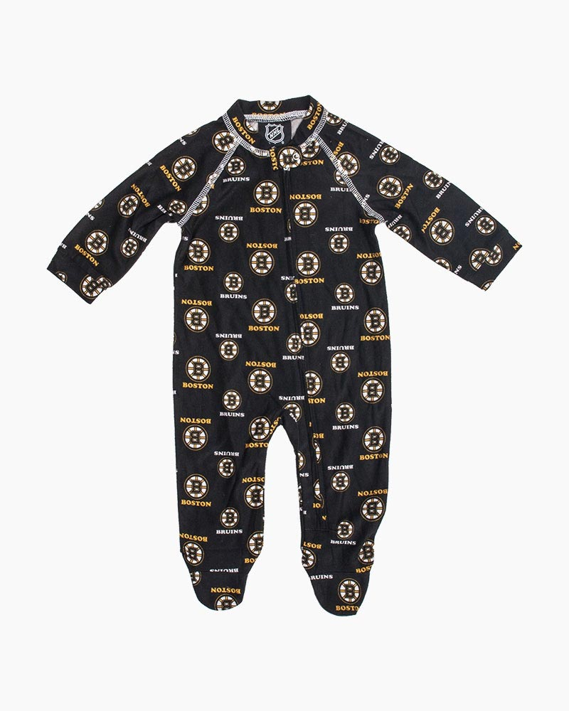 f57c2f91b Outerstuff LLC Boston Bruins Baby Raglan Zip-up Coverall | The Paper ...