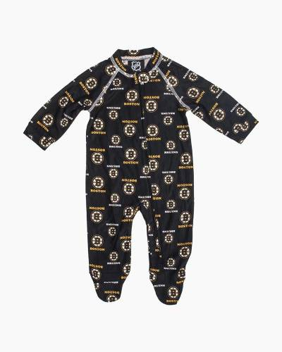 Boston Bruins Baby Raglan Zip-up Coverall