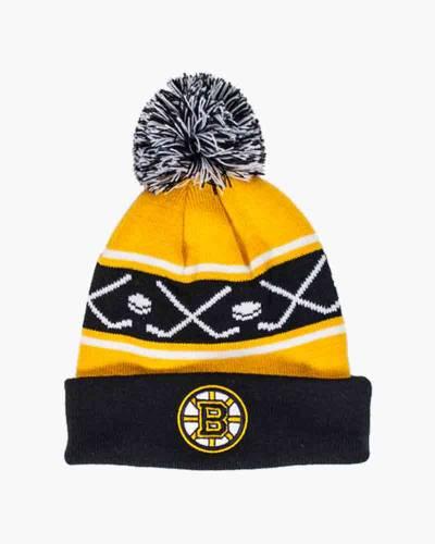 Boston Bruins Youth Pom Pom Knit Hat