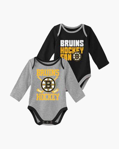 Boston Bruins Newborn and Infant Top Faves Bodysuits (Set of 2)