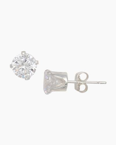 Cubic Zirconia 6 mm Stud Earrings