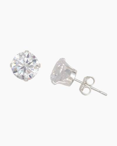 Cubic Zirconia 7 mm Stud Earrings
