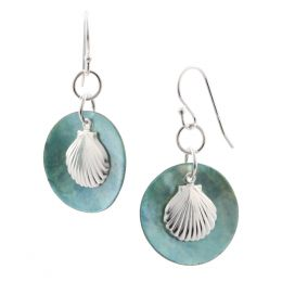 Aimee by Pastore Scallop and Abalone Earrings