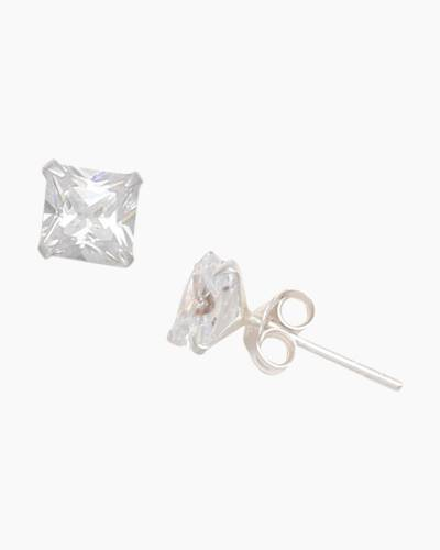 Cubic Zirconia Medium Stud Earrings