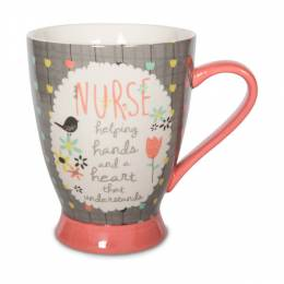 Pavillion Gift Co. Nurse Bird and Flowers Mug