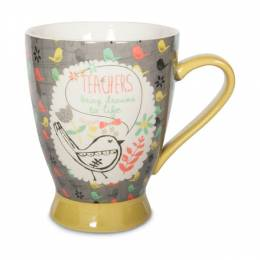 Pavillion Gift Co. Teacher Birds and Flowers Mug