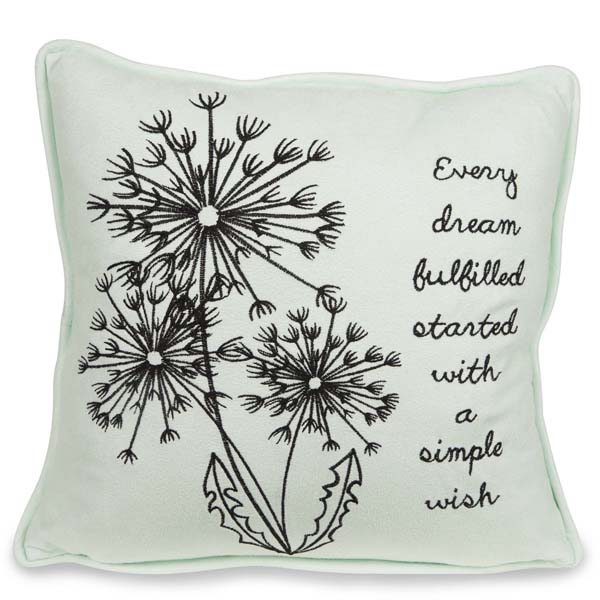 Pavilion Gift Co. Wish Micro Suede Pillow