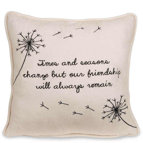 Pavilion Gift Co. Our Friendship Will Always Remain Micro Suede Pillow