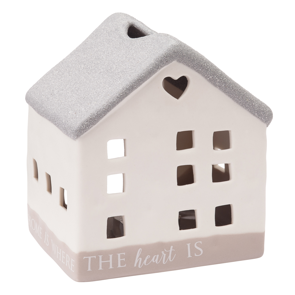 Pavillion Gift Co. Home is Where the Heart Is House Tea Light Candle Holder