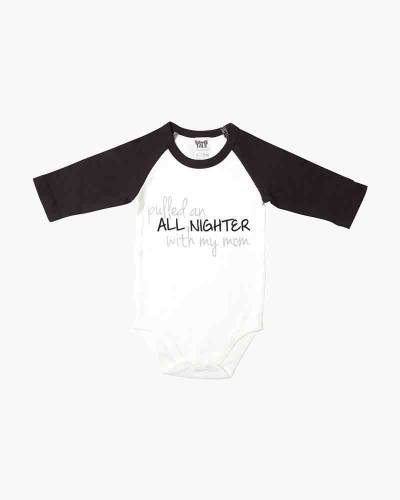 All Nighter 3/4 Sleeve Baby One-Piece Crawler