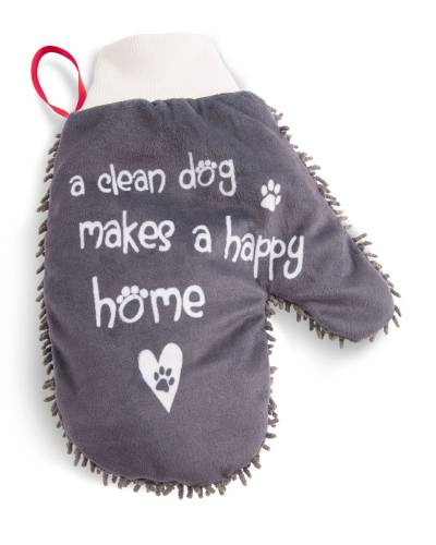 Happy Home Microfiber Pet Cleaning Mitt