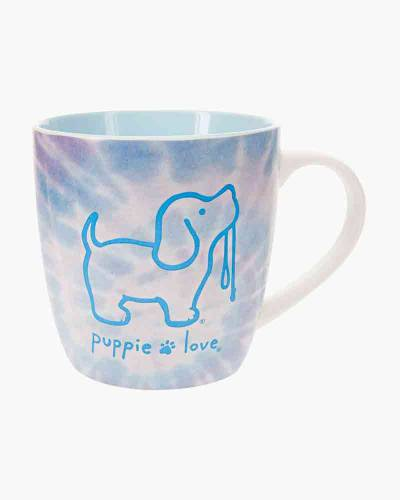 Blue Tie Dye Bone China Mug