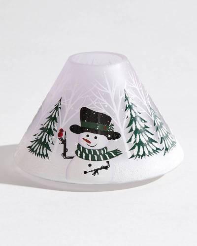 Winter Snowman Jar Candle Shade