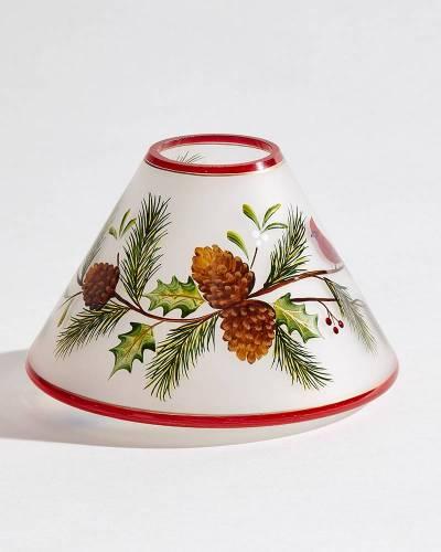 Winter Cardinal Jar Candle Shade