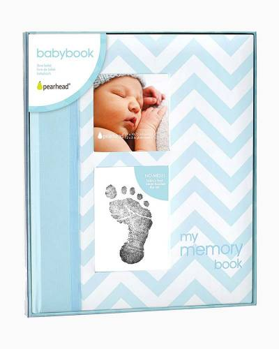 Blue Chevron Baby Book