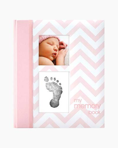 Pink Chevron Baby Book