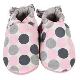 Robeez Novelty Dot Soft Soles Infant Shoes